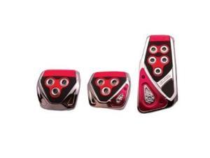 RAZO RP105RE Red Manual Car Pedal Covers