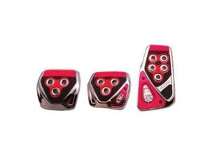 RAZO RP104RE Red Manual Car Pedal Covers