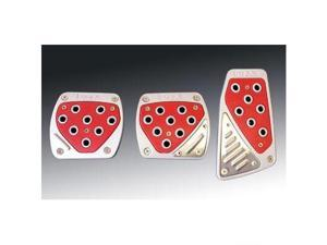 OBX Red High Intensity Racing Manual Pedal Covers