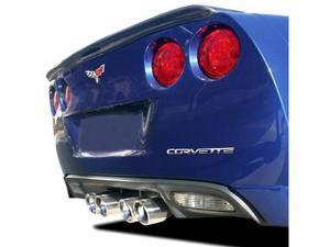 Corvette C6 Rear Bumper Letters Insert Chrome