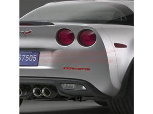 Corvette C6 Rear Bumper Letters Insert Red