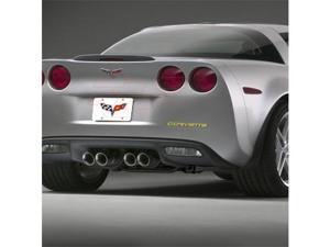 Corvette C6 Rear Bumper Letters Insert, Yellow
