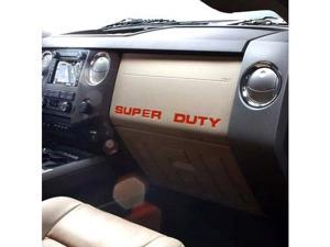 Ford 2008 up Super Duty Trucks Red Dashboard Lettering Kit
