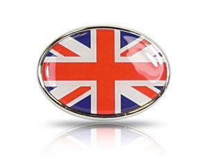 British Flag Oval Metal Car Emblem