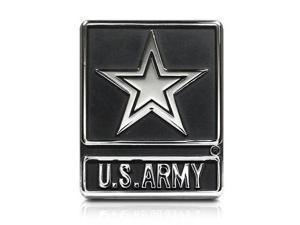 Army Star Chrome Metal Auto Emblem