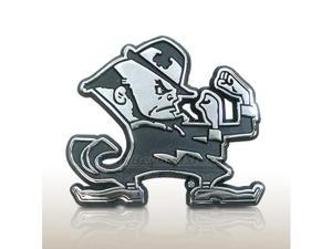 University of Notre Dame Leprechaun Chrome Car Emblem