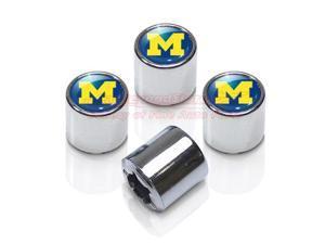 University of Michigan Chrome Tire Stem Valve Caps
