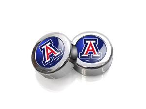 University of Arizona Wildcats License Plate, Frame Chrome Screw Covers