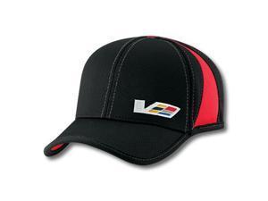 Cadillac V Series Athletic Mesh Black Baseball Cap