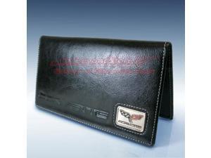 Chevrolet Corvette C6 Black Leather Checkbook Cover