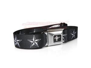 Ford Mustang Nautical Star Auto Seatbelt Buckle Black Belt