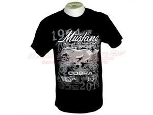 Ford Mustang 50 Years Black T-shirt, Size L