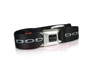 Dodge New Logo Seatbelt Buckle Black Strap Belt