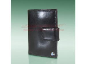 BMW Black Leather French Purse