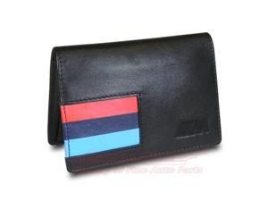 BMW M Stripe Black Leather Business Card Holder