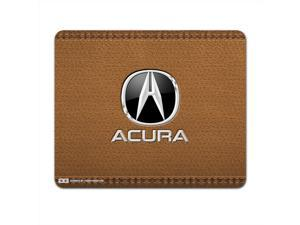 Acura Brown Leather Computer Mouse Pad