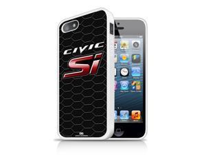 Honda Civic Si Honeycomb iPhone 5 5S Black TPU Rubber Cell Phone Case