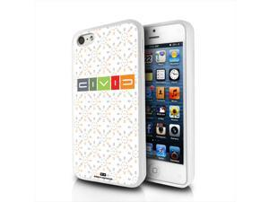Hond Civic Logo Pattern on White iPhone 5 Clear TPU Cell Phone Case
