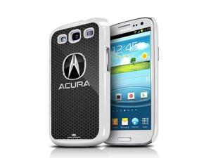 Acura Logo Honeycomb Grill Samsung Galaxy S3 White Cell Phone Case