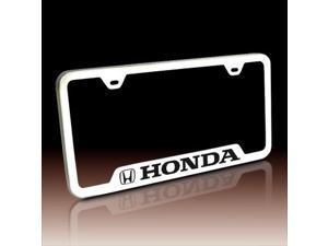 Honda Logo Polished Steel License Plate Frame