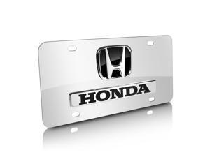 Honda 3D Logo and Nameplate Chrome Steel License Plate