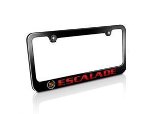 Cadillac Red Escalade Black Metal License Plate Frame