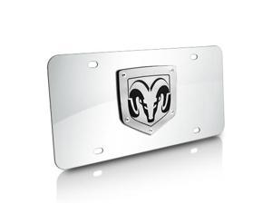 Dodge RAM 3D Laser Cut Logo Chrome Steel Auto License Plate