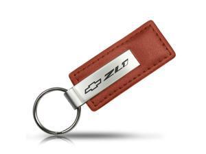Chevrolet Camaro ZL1 Brown Leather Key Chain