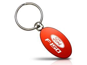 Ford F-150 Red Aluminum Oval Key Chain