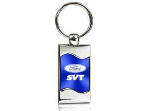 Ford SVT Blue Spun Brushed Metal Key Chain