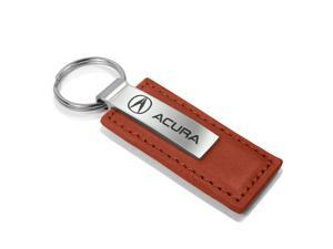 Acura Brown Leather Key Chain