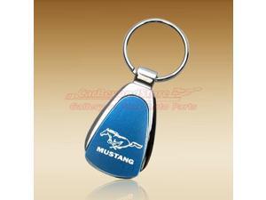 Ford Mustang Blue Tear Drop Key Chain