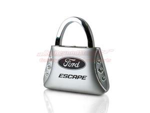 Ford Escape Clear Crystals Purse Shape Key Chain