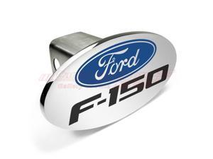 Ford Logo F-150 Metal Chrome Trailer Tow Hitch Cover with Locking