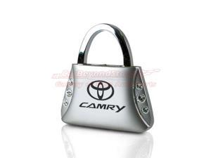 Toyota Camry Clear Crystals Purse Shape Key Chain