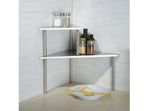 Cook N Home Stainless Steel Corner Storage Shelf Triangle