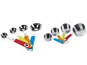 Cook N Home 8-Piece Stainless Steel Measuring Spoon and Cup Set