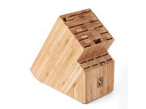 Cook N Home Bamboo Knife Storage Block 19-slot