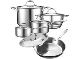 Cooks Standard 10-Piece Multi-Ply Clad Stainless-Steel Cookware Set NC-00235