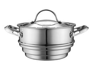 Cook Standard Multi-size Steamer fit Both 1.5QT and 3 QT Sauce Pan Stainless steel