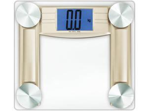 Cook N Home Digital Bathroom Scale with Large Display Extra Thicker Glass Smart Step-On Technology Bonus Measure Tape