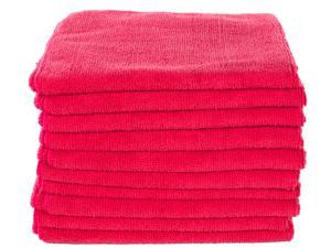"""Real Clean All Purpose 16""""x24"""" Microfiber Towels Red"""