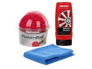 Mothers Power Ball and PowerBall Metal Polish+ Microfiber Towel