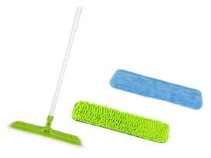 Star Fiber Star Mop Pro Household Microfiber Green Mop Kit with Two Microfiber Pads