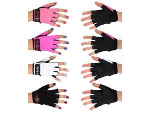 Mighty Grip Pole Dance Training and Fitness Gloves without Tack (Black, X-Small)