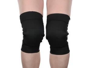 Mighty Grip Pole Dance Black Tacky Open Back Knee Protectors for Pole Dancing (Small)