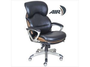 Serta Ergonomic High Back Leather Executive Office Chair in Black
