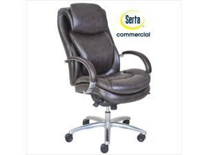 Serta at Home Wellness by Design Air Commercial Series 100 Executive Office Chair in Brown