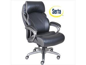 Serta at Home Big and Tall Executive Office Chair in Multi-Tone Bliss Black