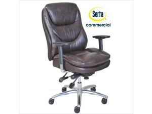 Serta at Home Smart Layers Commercial Series 600 Task Office Chair in Brown
